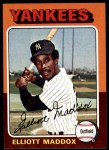 1975 Topps #113  Elliott Maddox  Front Thumbnail