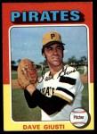 1975 Topps #53  Dave Giusti  Front Thumbnail