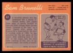 1970 Topps #67  Sam Brunelli  Back Thumbnail