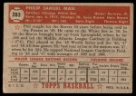 1952 Topps #283  Phil Masi  Back Thumbnail