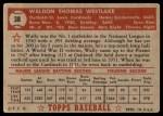 1952 Topps #38  Wally Westlake  Back Thumbnail