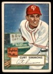 1952 Topps #203  Curt Simmons  Front Thumbnail