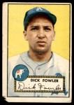 1952 Topps #210  Dick Fowler  Front Thumbnail