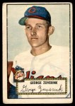 1952 Topps #199  George Zuverink  Front Thumbnail