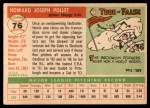 1955 Topps #76  Howie Pollet  Back Thumbnail