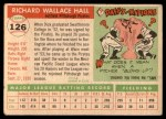 1955 Topps #126  Dick Hall  Back Thumbnail