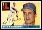 1955 Topps #163  Faye Throneberry  Front Thumbnail