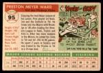 1955 Topps #95  Preston Ward  Back Thumbnail