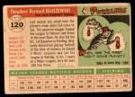 1955 Topps #120  Ted Kluszewski  Back Thumbnail