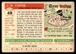 1955 Topps #49  J.W. Porter  Back Thumbnail