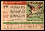 1955 Topps #144  Joe Amalfitano  Back Thumbnail
