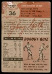 1953 Topps #36  Johnny Groth  Back Thumbnail