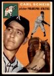 1954 Topps #118  Carl Scheib  Front Thumbnail