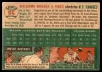 1954 Topps #56  Willie Miranda  Back Thumbnail