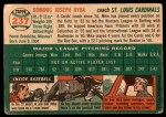 1954 Topps #237  Mike Ryba  Back Thumbnail
