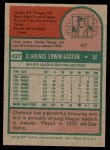 1975 Topps #427  Cito Gaston  Back Thumbnail