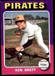 1975 Topps #250  Ken Brett  Front Thumbnail