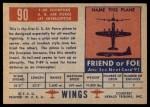 1952 Topps Wings #90   F-89 Scorpion Back Thumbnail
