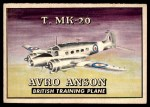 1952 Topps Wings #167   T. MK-20 Avro Anson Front Thumbnail