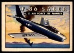 1952 Topps Wings #71   F-86 Saber Front Thumbnail