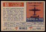 1952 Topps Wings #69   C-119 Packet Back Thumbnail
