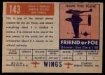 1952 Topps Wings #143   XF 3H-1 Demon Back Thumbnail