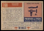 1952 Topps Wings #168   Blackburn Firebrand Back Thumbnail