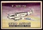 1952 Topps Wings #167   T. MK-20 Avro Anson Front Thumbnail