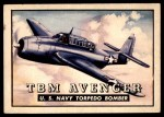 1952 Topps Wings #74   TBM Avenger Front Thumbnail