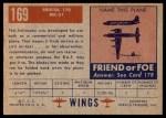 1952 Topps Wings #169   Bristol 170 MK-31 Back Thumbnail