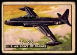 1952 Topps Wings #1   T-33 US Air Force Jet Trainer Front Thumbnail