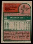 1975 Topps #383  Jim York  Back Thumbnail