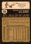 1973 O-Pee-Chee #636  Rickey Clark  Back Thumbnail