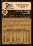 1973 O-Pee-Chee #656  John Ellis  Back Thumbnail