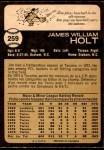 1973 O-Pee-Chee #259  Jim Holt  Back Thumbnail