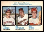 1973 O-Pee-Chee #612   -  Steve Lawson / Bob Reynolds / Brent Strom Rookie Pitchers Front Thumbnail