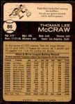 1973 O-Pee-Chee #86  Tom McCraw  Back Thumbnail