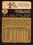 1973 O-Pee-Chee #154  Jeff Torborg  Back Thumbnail