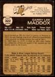 1973 O-Pee-Chee #322  Garry Maddox  Back Thumbnail