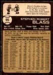 1973 O-Pee-Chee #95  Steve Blass  Back Thumbnail