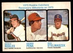 1973 O-Pee-Chee #601   -  George Pena / Sergio Robles / Rick Stelmaszek Rookie Catchers Front Thumbnail