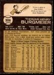 1973 O-Pee-Chee #306  Tom Burgmeier  Back Thumbnail
