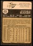 1973 O-Pee-Chee #215  Dusty Baker  Back Thumbnail
