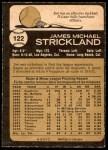 1973 O-Pee-Chee #122  Jim Strickland  Back Thumbnail