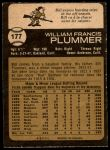 1973 O-Pee-Chee #177  Bill Plummer  Back Thumbnail