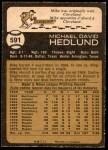 1973 O-Pee-Chee #591  Mike Hedlund  Back Thumbnail