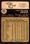 1973 O-Pee-Chee #262  Jack Aker  Back Thumbnail