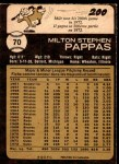 1973 O-Pee-Chee #70  Milt Pappas  Back Thumbnail