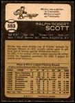1973 O-Pee-Chee #553  Mickey Scott  Back Thumbnail