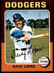 1975 O-Pee-Chee #93  Davey Lopes  Front Thumbnail